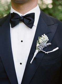 Lavender Boutonniere | photography by http://www.giacanali.com/wedding.php