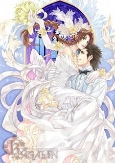 Tags: Anime, Wedding, Wedding Dress, Final Fantasy VII, Carry, Aerith Gainsborough, Zack Fair