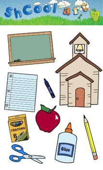 Have fun and capture the attention of the kids in the class with this great set of school clipart.  The set includes the following clipart images a...
