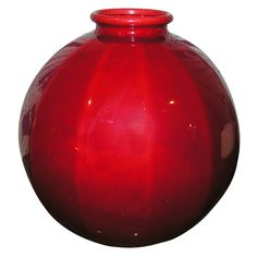 Red Ceramic Vase by Sevres