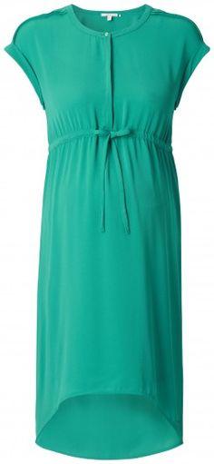 Dámské šaty pro těhotné s krátkým rukávem ESPRIT MATERNITY - zelená