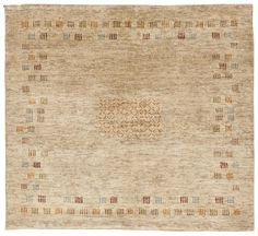 A rug with a beige background decorated with simple motifs. New condition. Contemporary Rugs, Modern Rugs, Hand Knotted Rugs, Woven Rug, Homemade Rugs, Asian Rugs, Affordable Rugs, Square Rugs, Cheap Carpet Runners