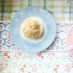 #cake #coffee #cup #sweet #creamy #tea #pink #blue #kitchen #coffeetime #cooking