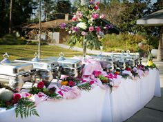 wedding buffet table pictures | Buffet is a French word that means all you can consume. It is a ...