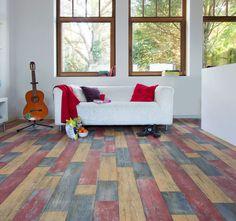 PVC Bodenbelag Holz-Optik Planken Vintage bunt 400 cm Breite pro qm = 9,95 ? kaufen bei Hood.de Plank, Bunt, Flooring, Ebay, Contemporary, Vintage, Ceilings, Walls, Home Decor