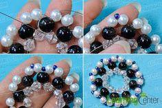 Přidejte modré perličky ozdoby