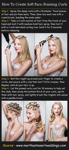 Face-Framing Curls Tutorial - Hairstyles and Beauty Tips