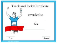 Sports certificate template sports certificate templates track and field certificate templates free customizable with our online certificate maker many more sports awards on this site yadclub Choice Image