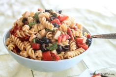 Pasta Recipes : Tomato, Basil, and Mozzarella Pasta Salad