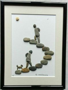 40 Rock and Pebble Art-Ideen Check more at machesselbstnew. 40 Rock and Pebble Art-Ideen Check m 40 Rocks, River Rocks, Art Rupestre, Art Pierre, Creation Art, Art Diy, Pebble Pictures, Rock And Pebbles, Stone Crafts