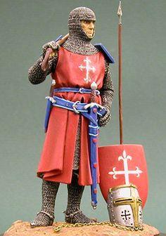 Knight c.1300 in 90mm Andrea Miniatures by Chuck Harransky