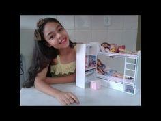 Como fazer beliche para boneca barbie - YouTube