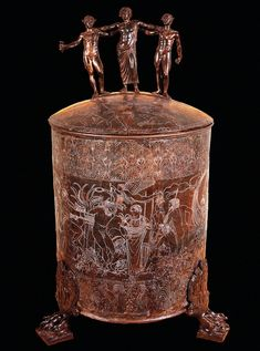 """theancientwayoflife: """" ~The Ficoroni Cista. Bronze. Late 4th century BCE. Rome, National Etruscan Museum of Villa Julia """""""