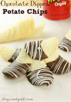 Easy Chocolate Dipped Potato Chips - salty, sweet & addicting! @Miss CandiQuik