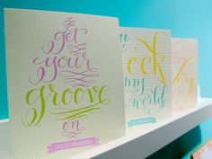 National Stationery Show Part Fig. 2 Design Studio Photo Credit: Oh So Beautiful Paper Drug Design, Wedding Typography, Bday Cards, Cool Writing, It's Your Birthday, Photo Studio, Amazing Art, Craft Projects, Stationery