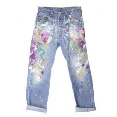 Rialto Jean Project Splatter Paint Boyfriend Jeans - Shop new looks that mix fashion and art: http://www.harpersbazaar.com/fashion/fashion-articles/trending-now-art-class