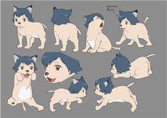 Totoro, Wolf Children Ame, Lobo Anime, Wolf People, Dibujos Cute, Anime Furry, Anime Animals, Cute Chibi, Miyazaki