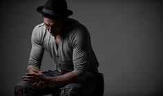 Promo Shoot in Studio with Male model: Danny Bartlett.