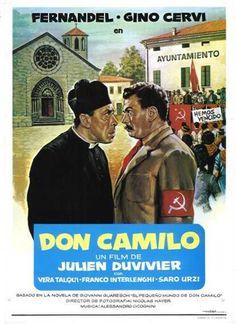 Per me la più bella coppia del cinema italiano: Gino Cervi e Fernandel, qui nel primo film  (1952, di Julien Duvivier) della saga di Don Camillo e il sindaco comunista Peppone.