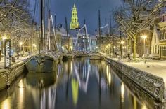 Groningen, the Netherlands by wintertime.
