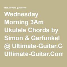 Wednesday Morning 3Am Ukulele Chords by Simon & Garfunkel