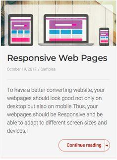 Responsive Web Pages - Arthur Cimatu Responsive Web, Continue Reading, It Works, Website, Nailed It