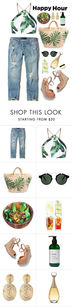 """The happiest hour"" by natyleygam ❤ liked on Polyvore featuring Hollister Co., Jaded, Spitfire, Fox Run, LSA International, Schutz, Balsem, Gas Bijoux, Christian Dior and Bobbi Brown Cosmetics"