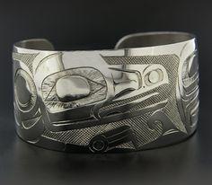 Lattimer Gallery - Earl Muldon - Sterling Silver Bracelet - Raven and Loon
