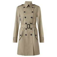 Jigsaw Classic Trench Coat - This one looks really nice. It has nice details, is 100% cotton and is 198 GBP. Is this close to thecolor you want?