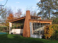 Alex den Braver, Groningen: tuinhuisje met kachel voor Hans en Ruth