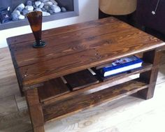 Pallets....simplicity at it's finest! Cute coffee table idea!