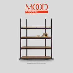 #Flexform MOOD ICARO bookcase #design Roberto Lazzeroni