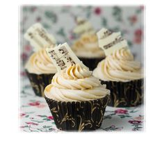 Like, share, repin :D   Enjoy    Music Notes Themed Cupcakes