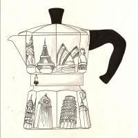 Concorso 80 Anni Bialetti Coffee Illustration, Italian Coffee, Coffee Branding, Coffee Art, Identity Design, Espresso, Printables, Icons, Posters