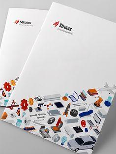検査機器メーカー 企業パンフレット #アイソメトリック #表紙 Corporate Design, Business Design, Flyer Design, Layout Design, Print Design, Graphic Design, Pamphlet Design, Booklet Design, Brochure Cover