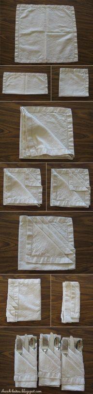 servilletas con cubiertos
