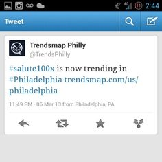 #Salute100x trending off of @Thereal_Mass #OTG #OverTimeGrind #PhillySoundSessions #Promo