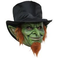 Extreme Creepy Mad Goblin Troll Gnome Leprechaun Irish Halloween Costume Mask