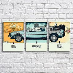 Back to the Future Art Print Set  Back to the Future 1 2 and