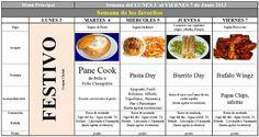 Menú Principal del 3 al 7 de Junio de 2013