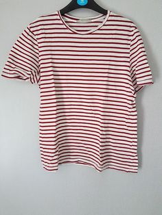 12c2318434e51 Extra Off Coupon So Cheap Zara Red And White Striped Tshirt Size Small