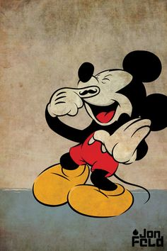 Mustache Mickey Art Print