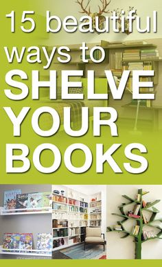 15 beautiful ways to shelve your books. We're building our own wall mounted, but the wrap around is gorgeous! Home Projects, Projects To Try, Organization Hacks, Organizing, Book Nooks, Reading Nook, Getting Organized, Decoration, Bookshelves