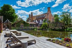 This picture perfect moated manor house is rooted in medieval history