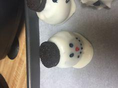 Snowmen Oreo truffle balls