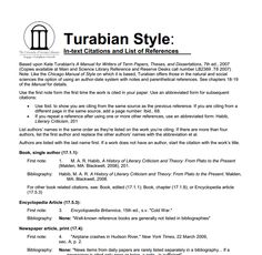 How to write in turabian