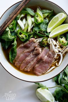 Why leave all the fun and expertise to the chefs at the restaurant? Making your own Paleo beef pho at home is not only simple, it is beyond flavorful too.