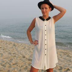 Skjortklänning Vit - Odd-Living.com