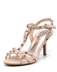 GUESS Sandals - Santana Studded Mid-Heel