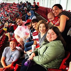 There's nothing better than some #teambonding at a Reds baseball game! #Cincinnati #Reds @redsbaseball